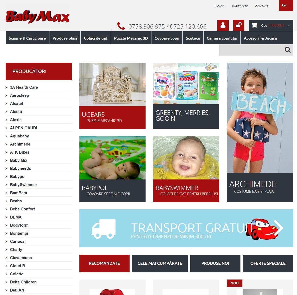 Magazin online produse pentru copii