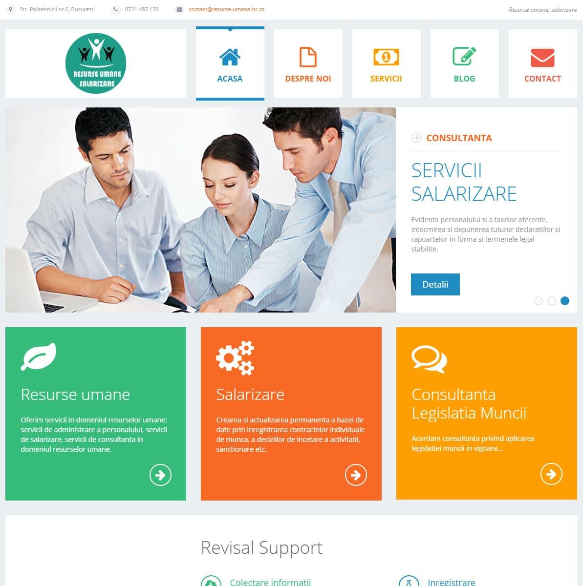 Site de prezentare Wordpress