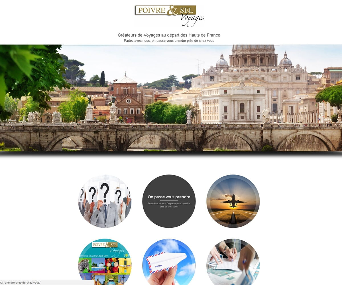 Poivre et Sel - site de prezentare agentie de turism