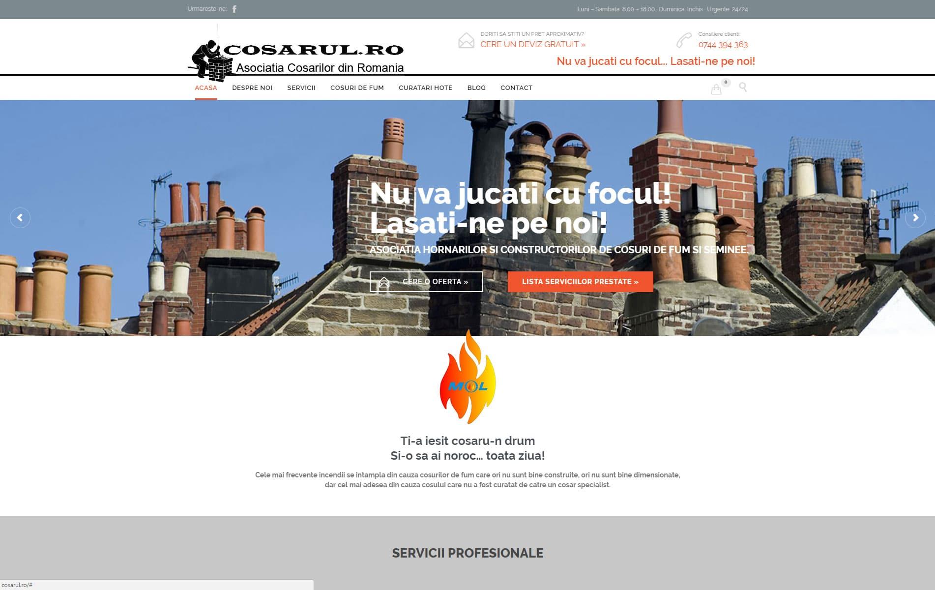 Cosar - inspectii cosuri de fum, curatari cosuri de fum, curatari seminee, centrale sobe si cuptoare