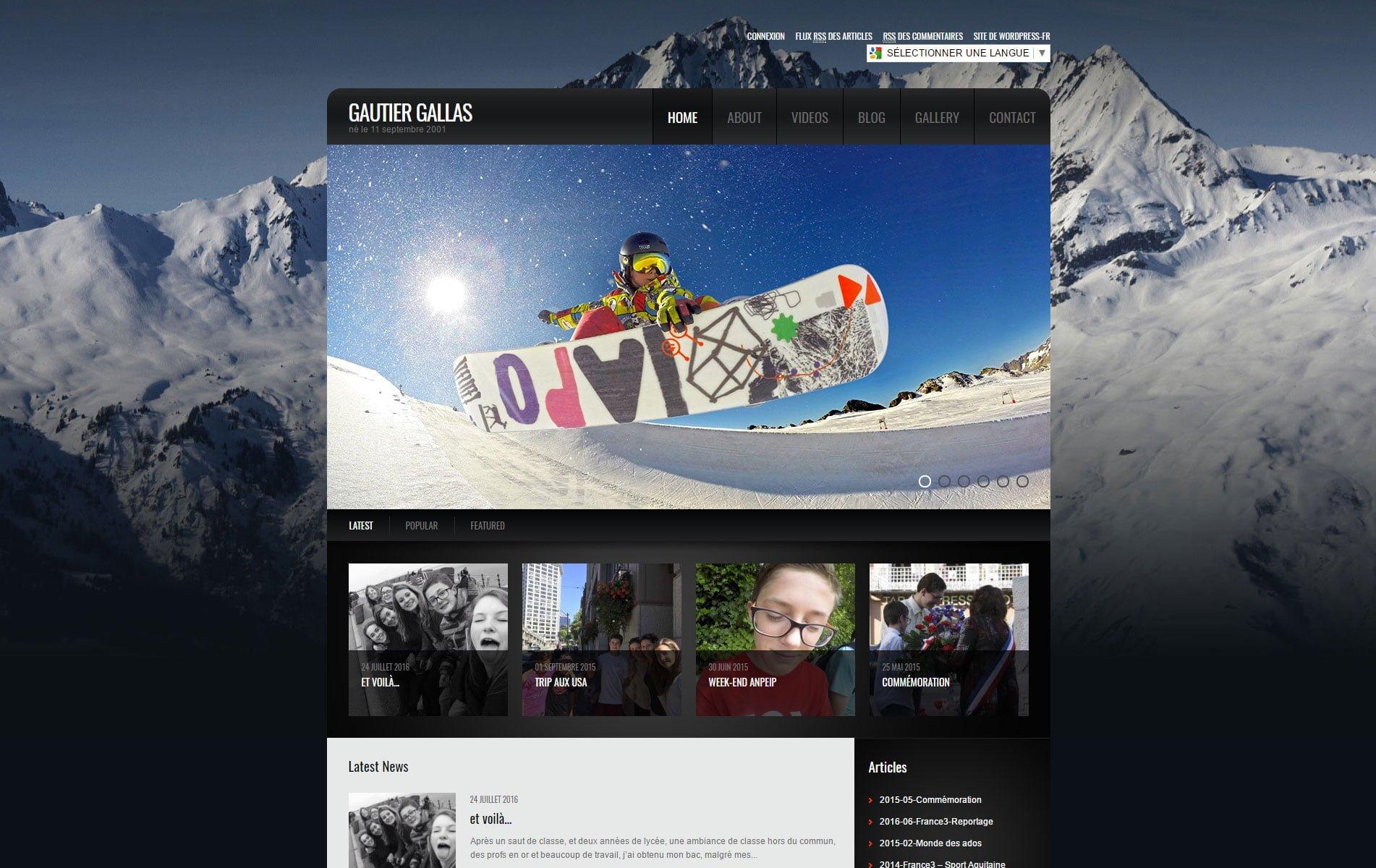Gautier Gallas - snowboard