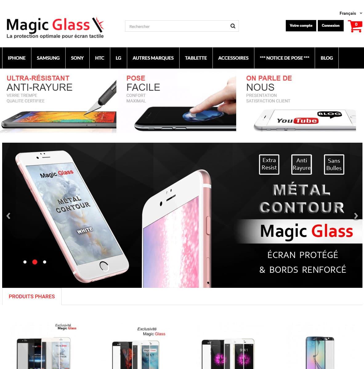 MagicGlass est le Spécialiste de la survitre : l'écran protection anti-rayure pour téléphone portable et tablette Samsung et iPhone.