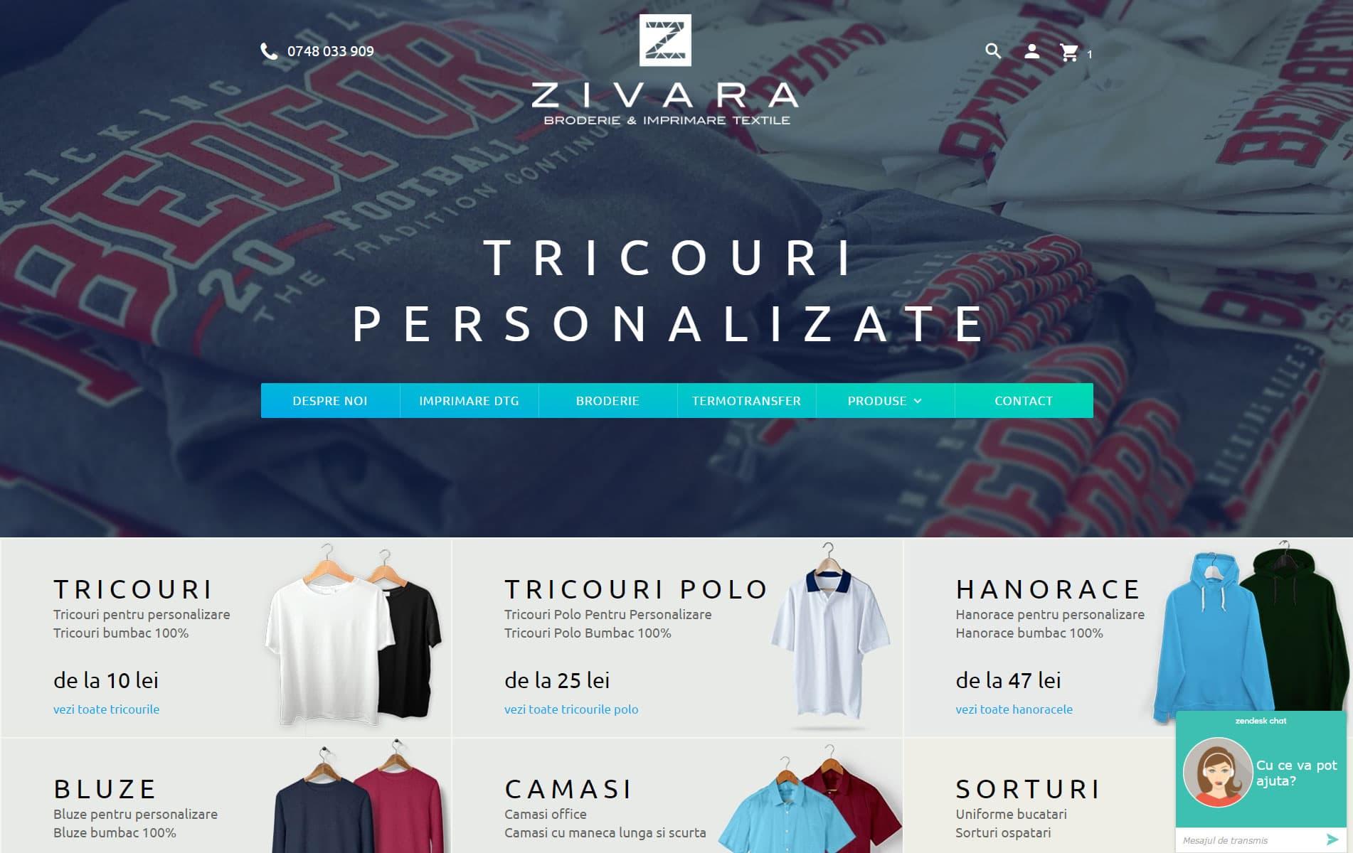 Tricouri, hanorace, bluze, camasi, sepci personalizate - Zivara