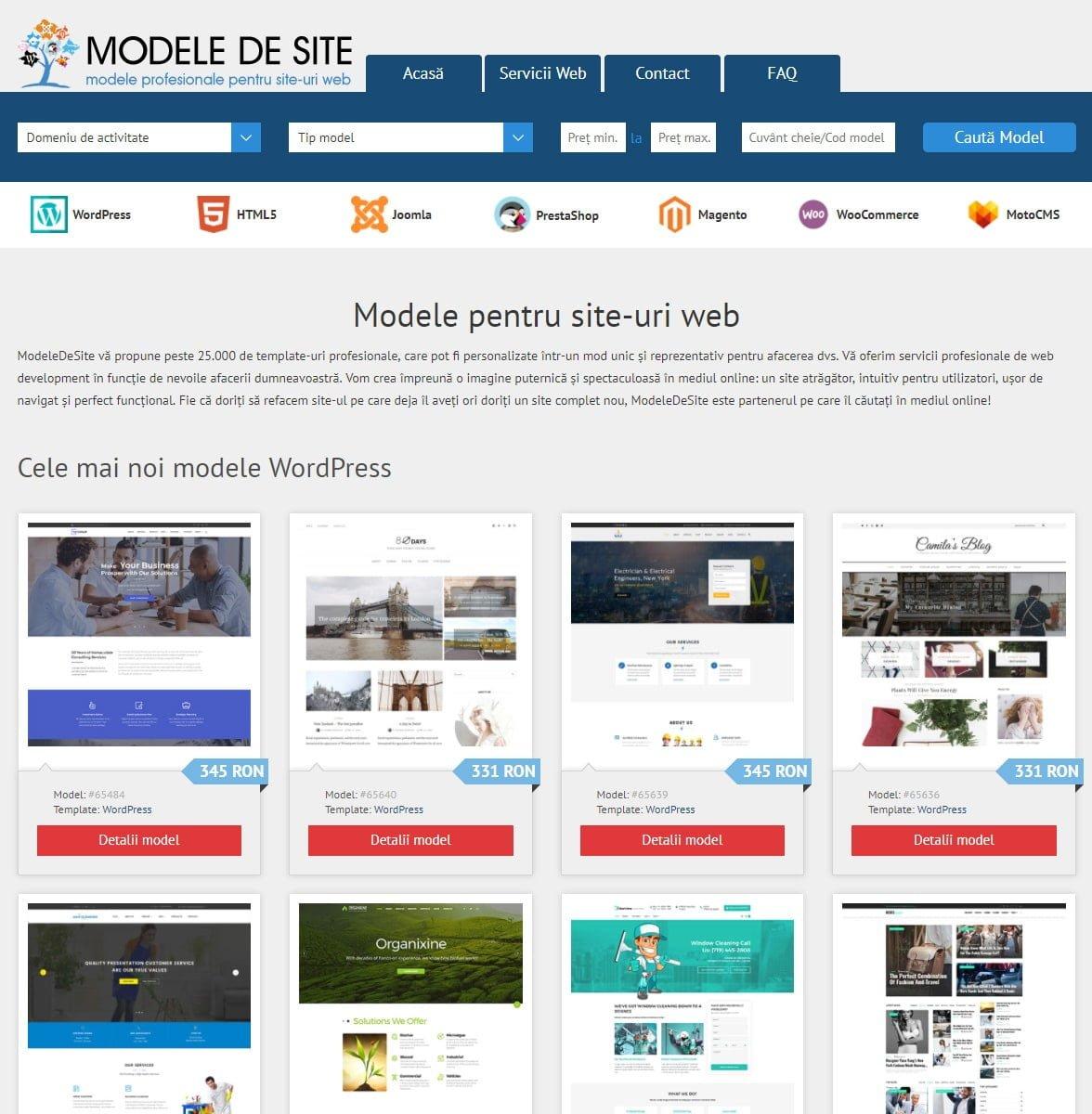 Modele de site