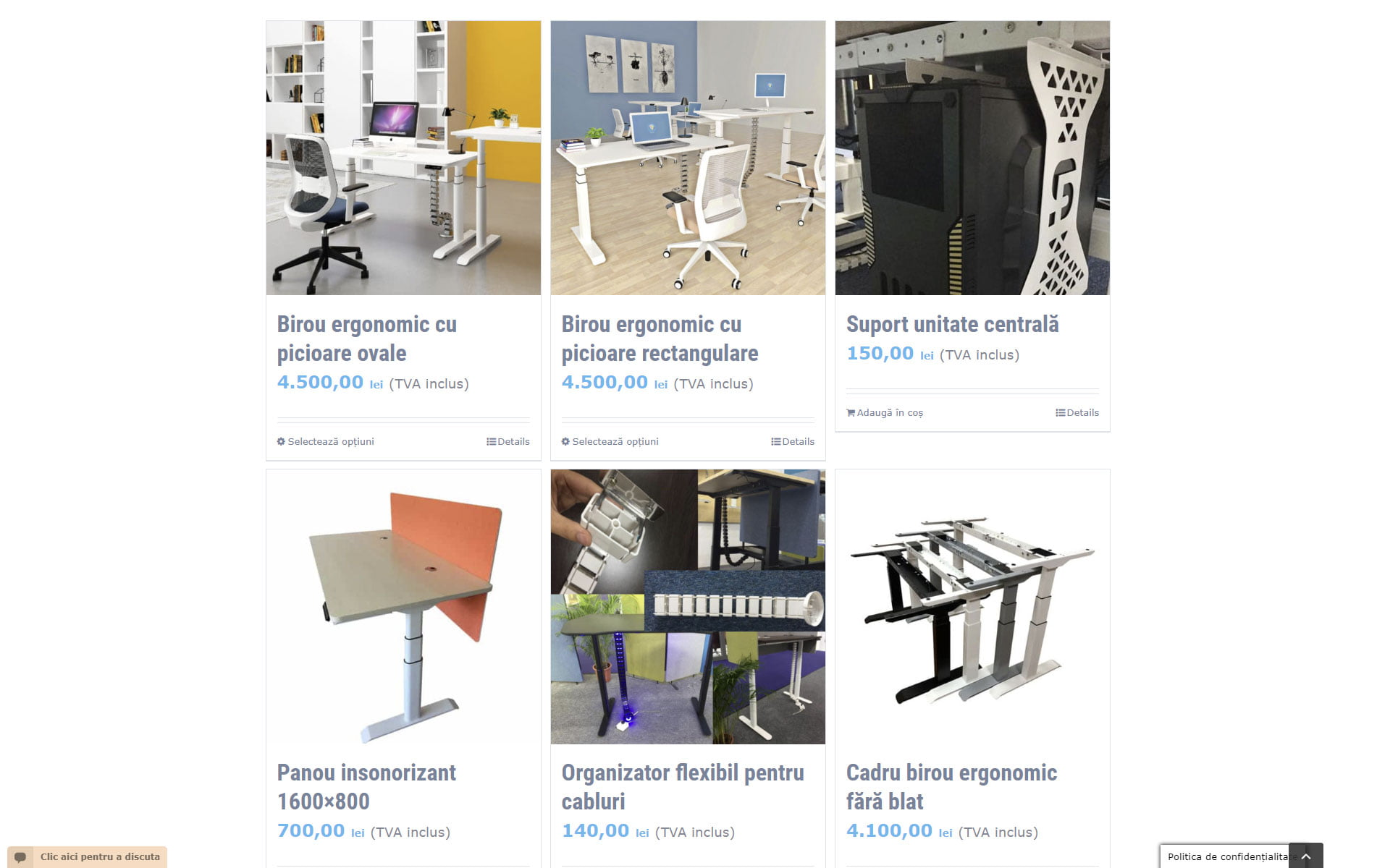 Birou ergonomic reglabil electric pe inălțime