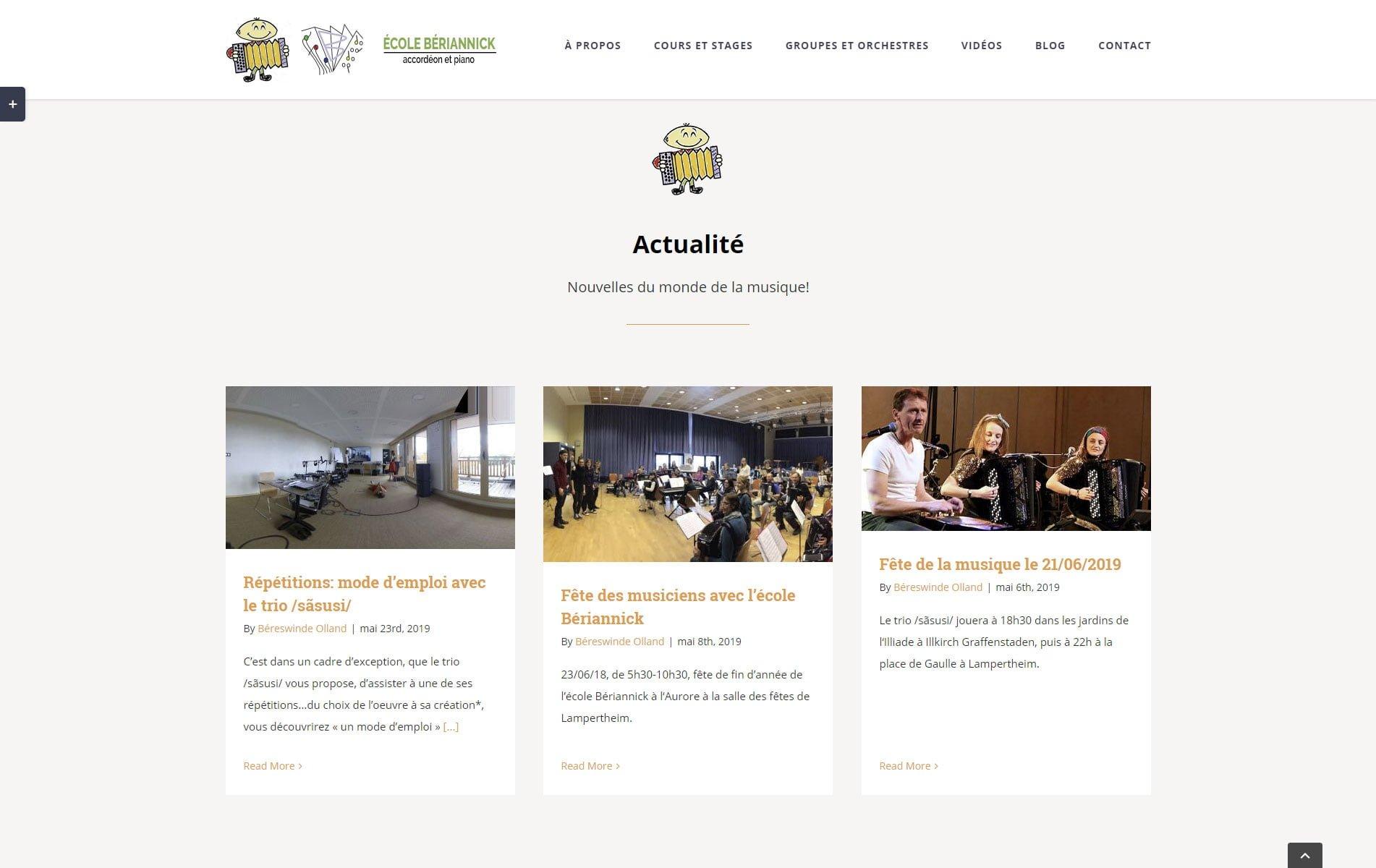 Ecole d'accordéon et piano à Strasbourg