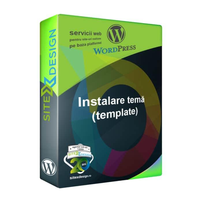 Instalare temă (template) Wordpress