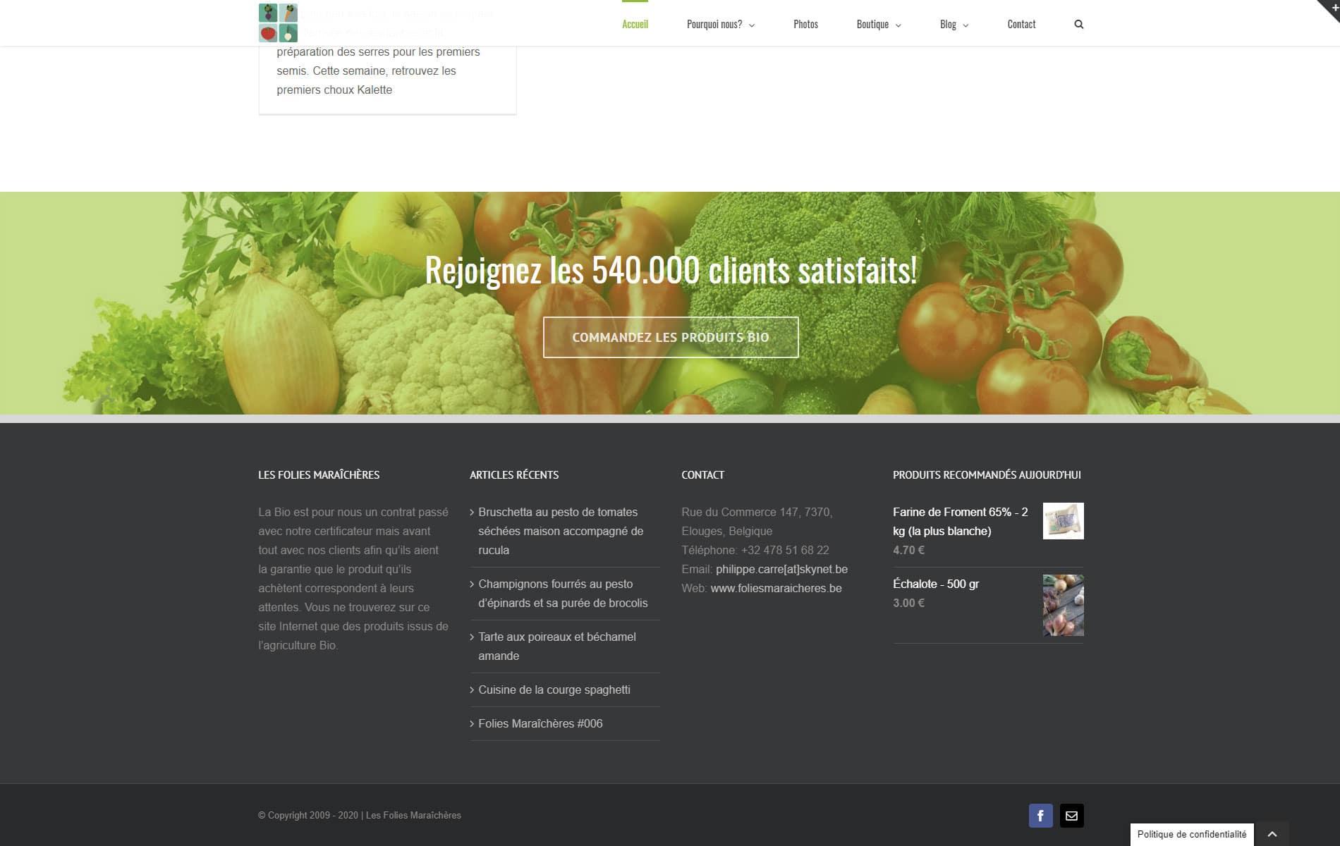 Les Folies Maraîchères - de Paniers de Fruits et Légumes Bio