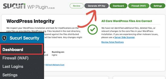 pluginul gratuit Sucuri Security